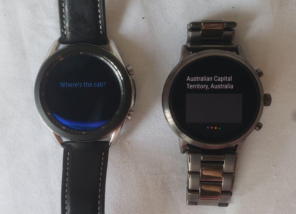Samsung Galaxy Watch 3 vs Fossil Gen 5 Carlyle bixby vs google assistant