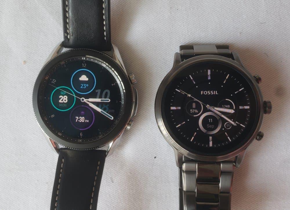 Samsung Galaxy Watch 3 vs Fossil Gen 5 Carlyle main screen