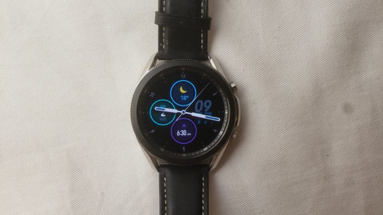 Samsung Galaxy Watch3 main screen