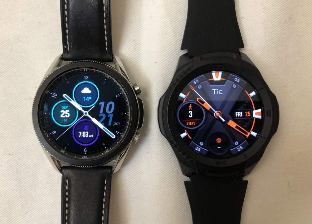Samsung Galaxy Watch3 vs Ticwatch S2 main screen