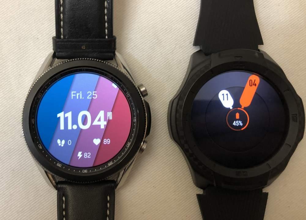 Samsung Galaxy Watch3 vs Ticwatch S2 watch faces