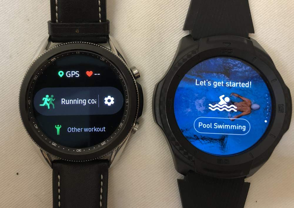 Samsung Galaxy Watch3 vs Ticwatch S2 sports