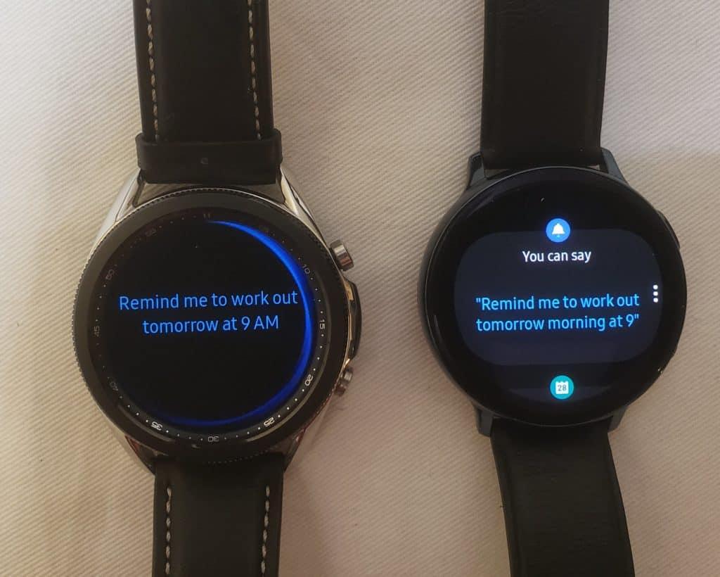 Samsung Galaxy Watch3 vs Active2 Bixby