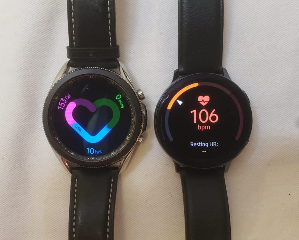 Samsung Galaxy Watch3 vs Active2 health