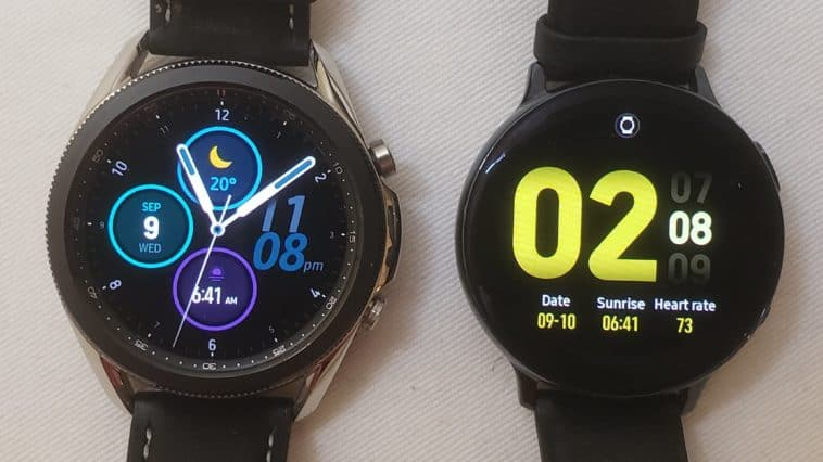 Samsung Galaxy Watch3 vs Active2 main screen