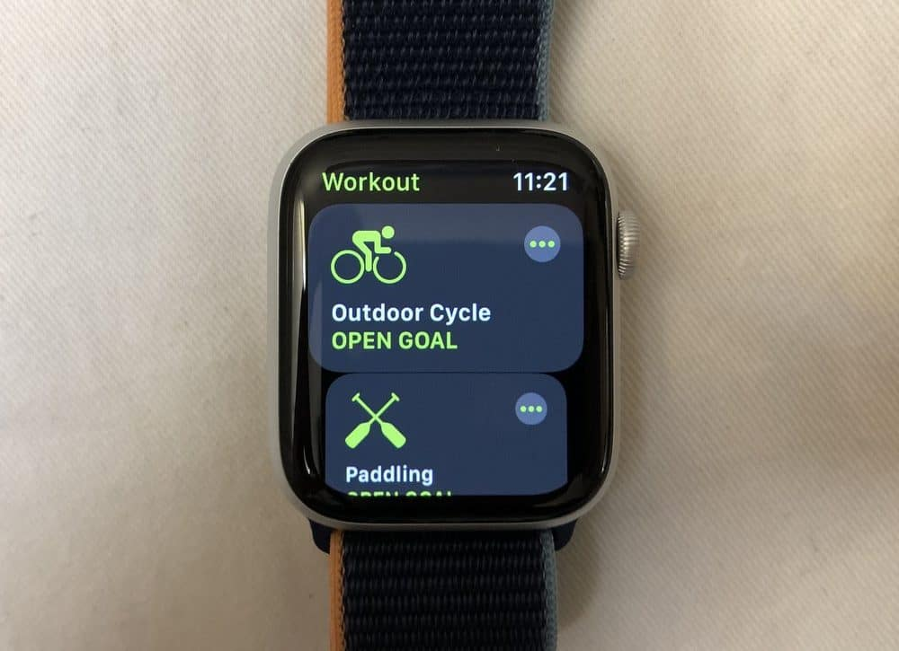 Apple Watch Series 6 exercise choice