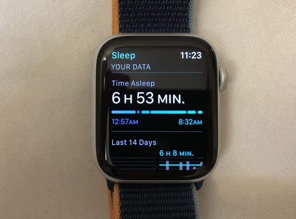 Apple Watch Series 6 sleep tracking