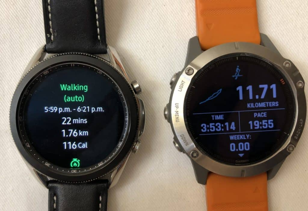 Samsung Galaxy Watch3 vs Garmin Fenix 6 sports
