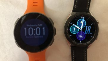 Samsung Galaxy Watch3 vs Polar Vantage V main screen