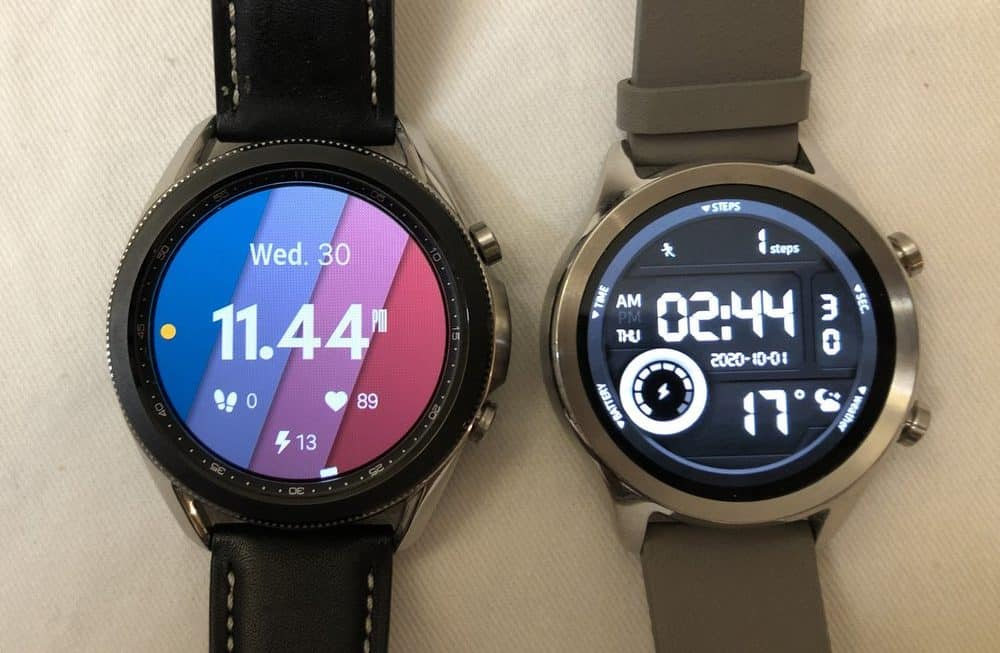 samsung galaxy watch3 vs ticwatch c2 watch faces