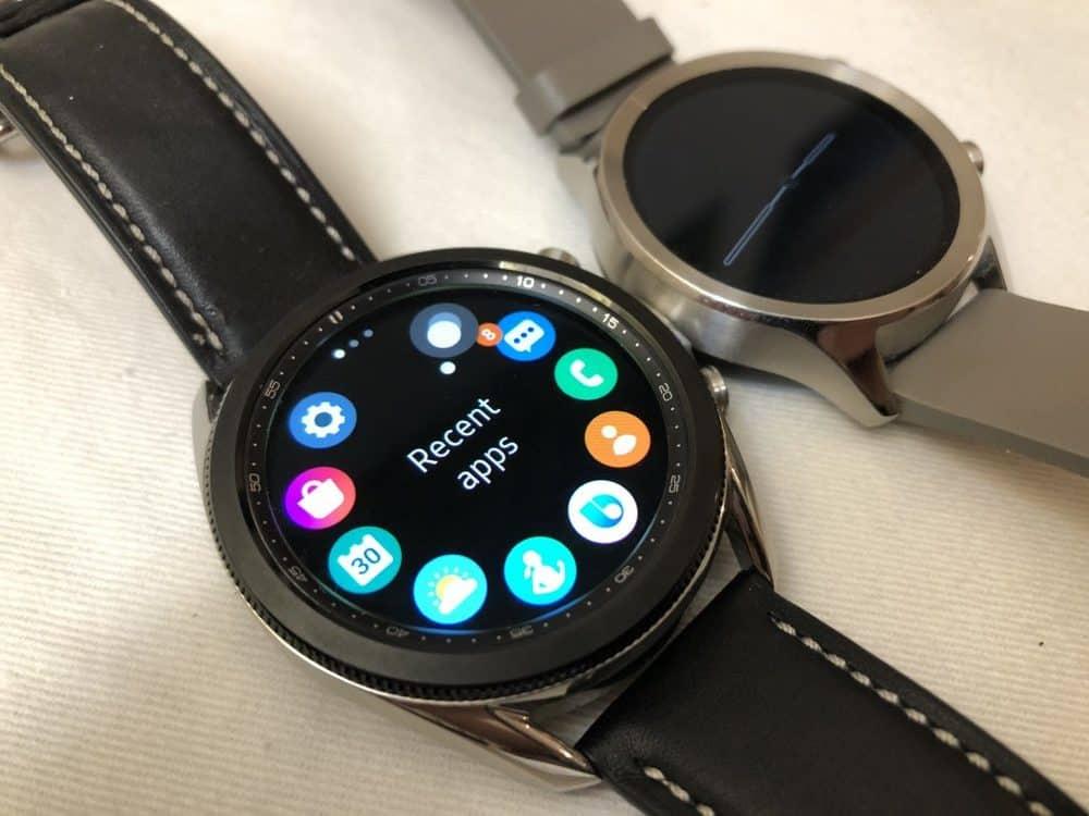 samsung galaxy watch3 vs ticwatch c2 rotating bezel