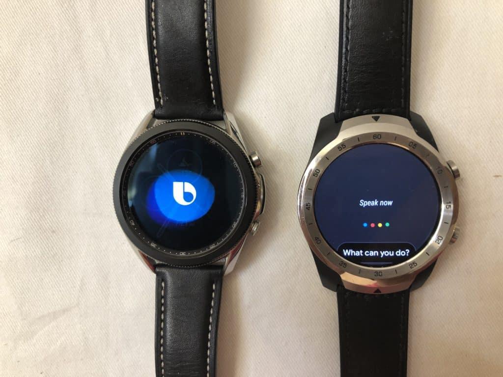 samsung galaxy watch3 vs ticwatch pro voice assistant